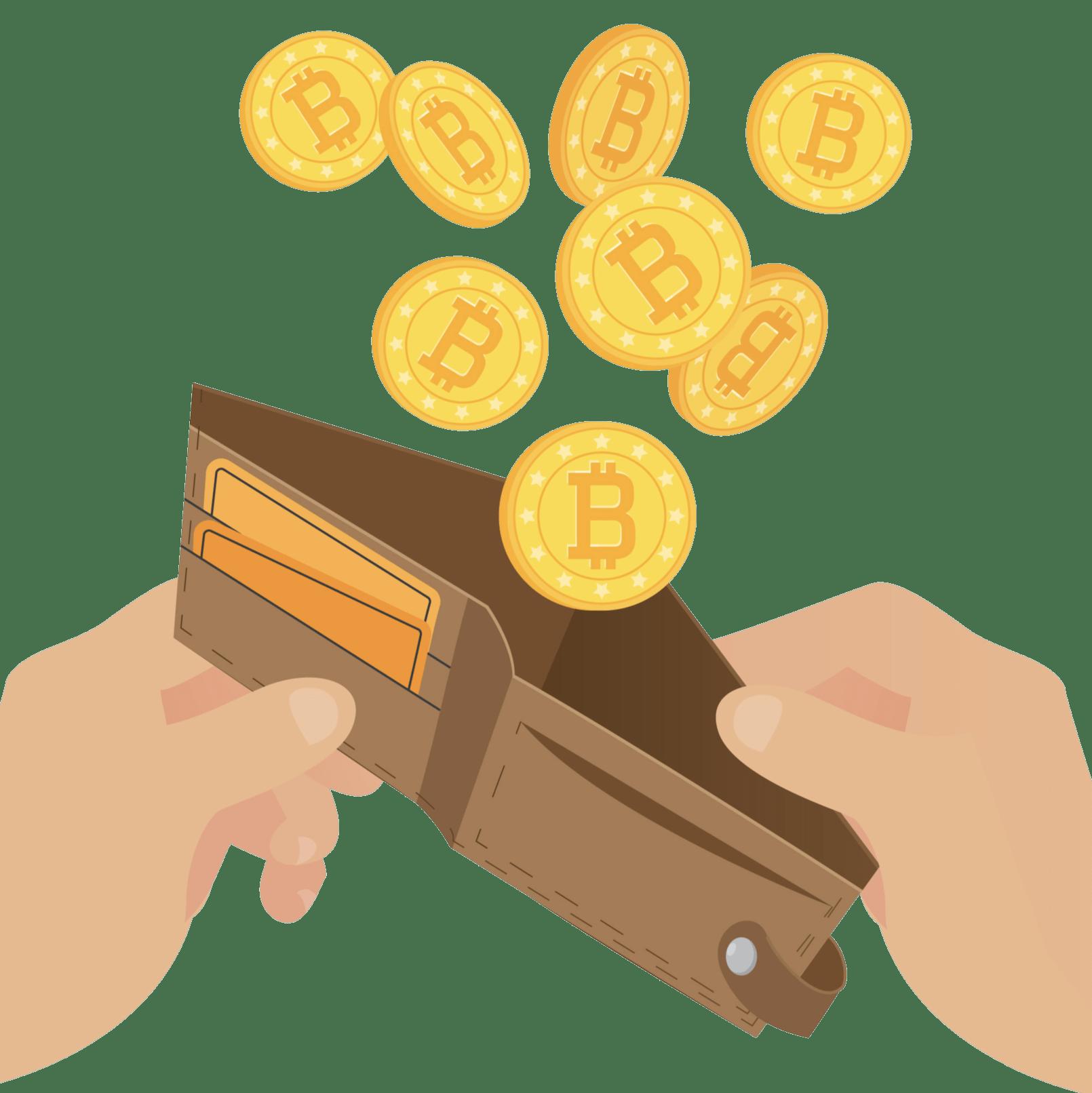 Bitcoin plånbok mynt