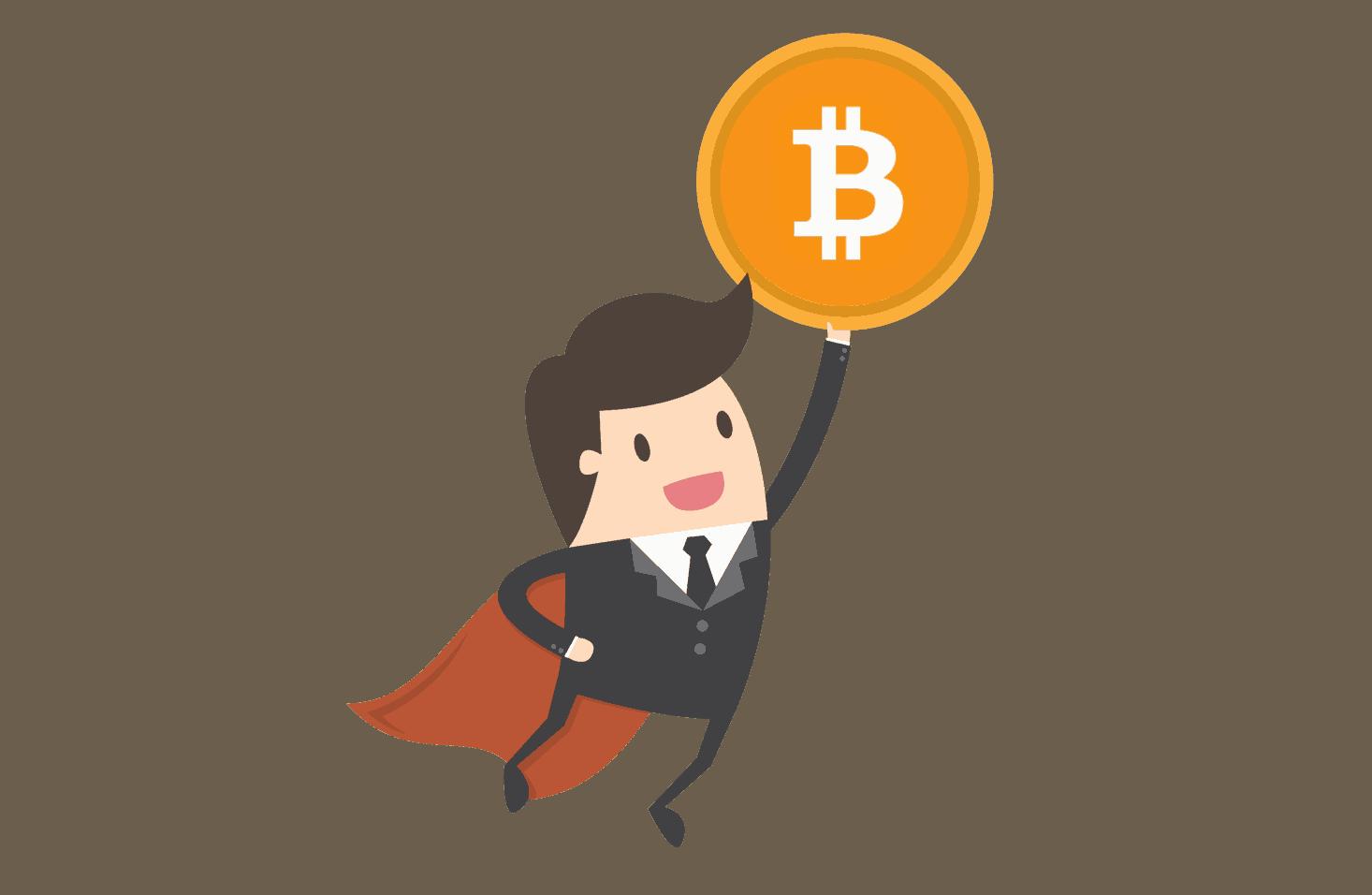 flygande bitcoin