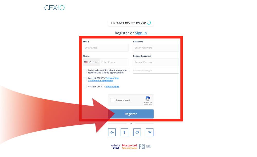 cex.io köp ethereum registering