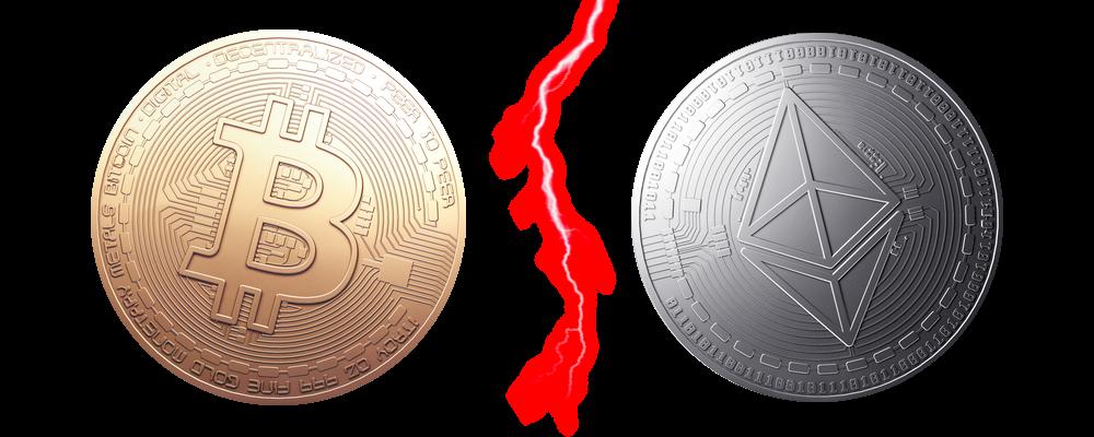 bitcoin vs ethereum blixten