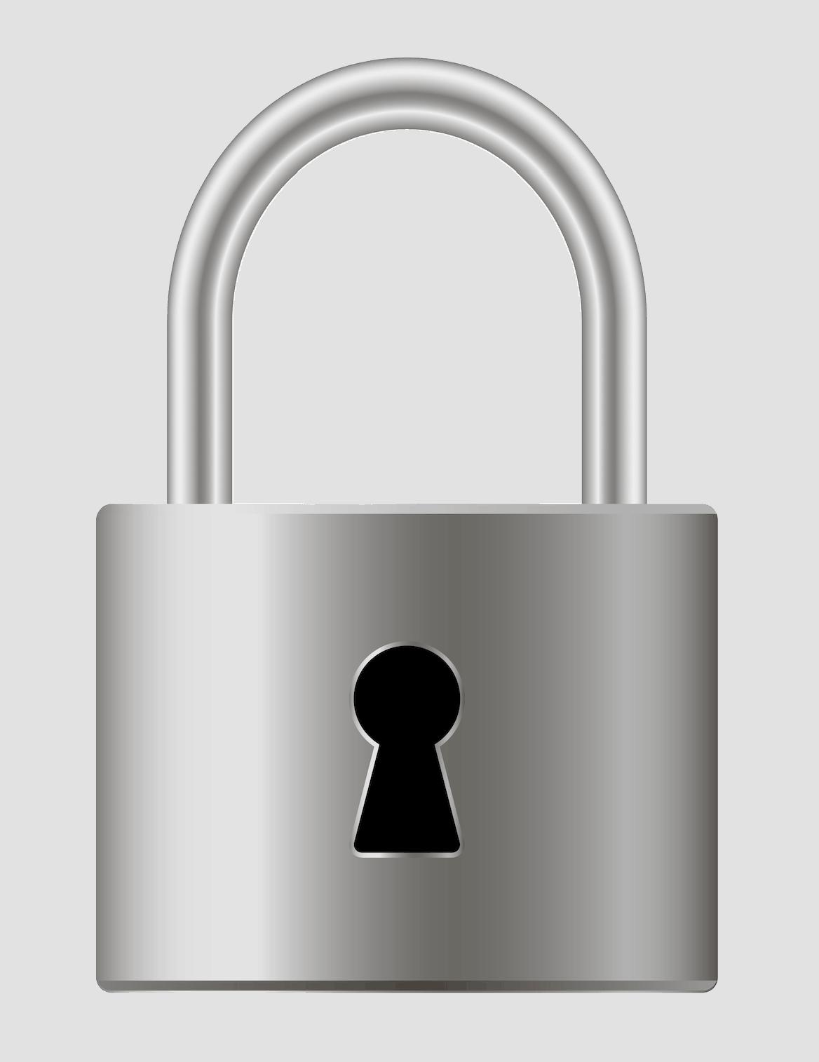 Secure metal lock