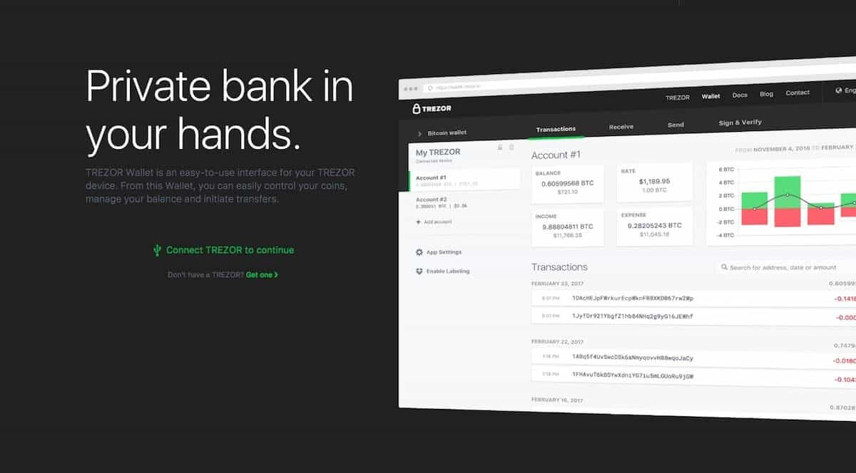 Trezor private bank