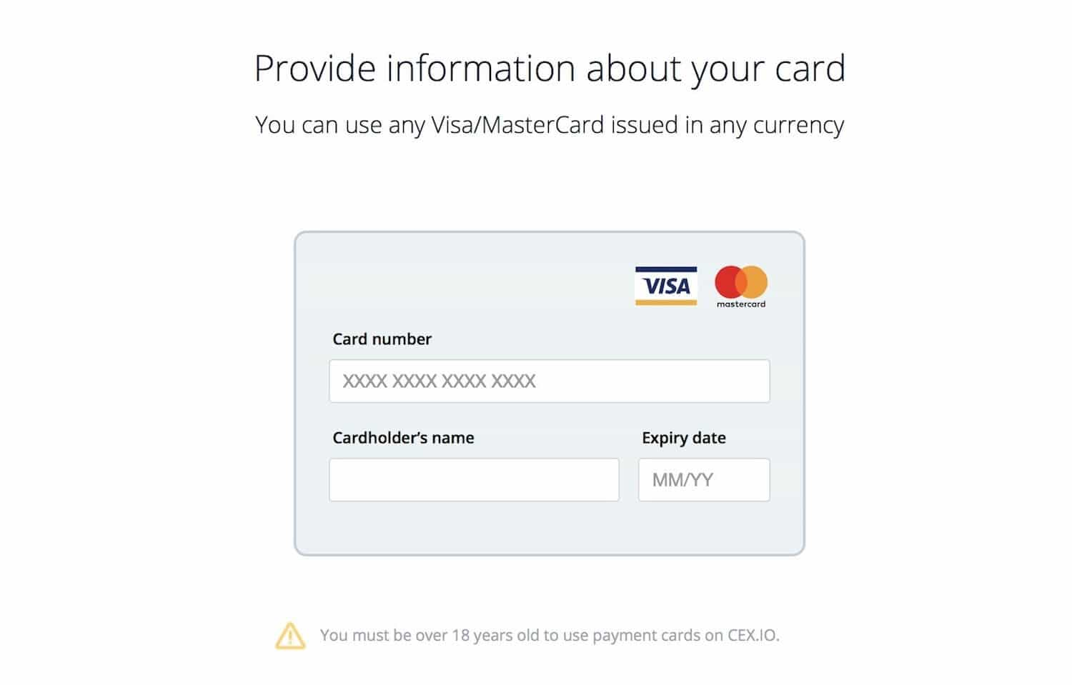 CEX.io payment card