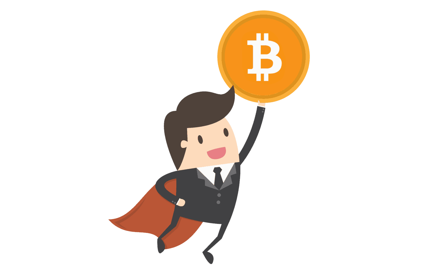 flying bitcoin guy