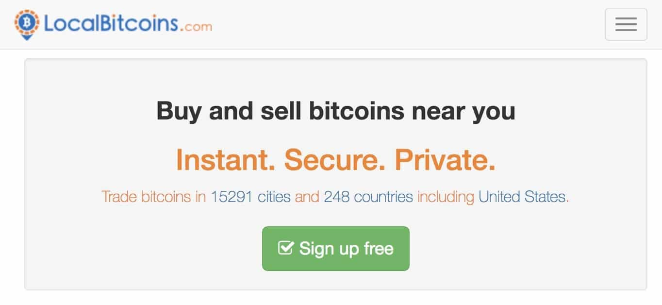 Localbitcoins website