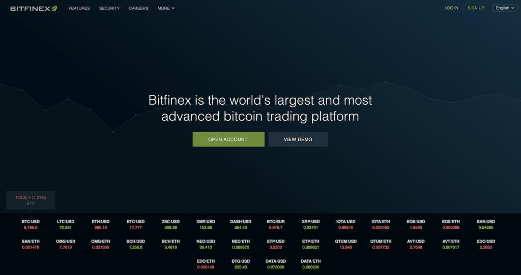 cryptocurrency trading platform bitfinex