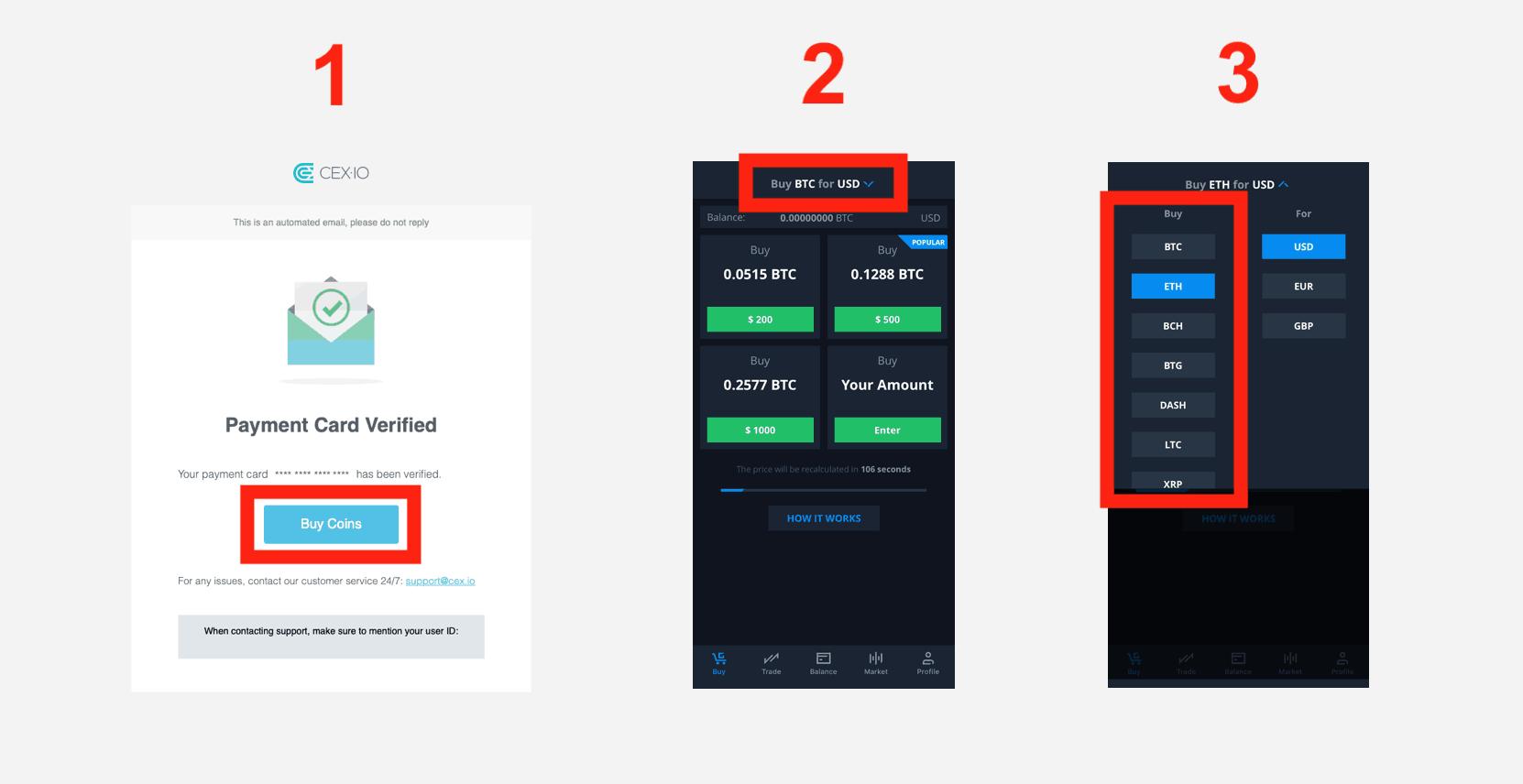 cex.io app buy crypto steps