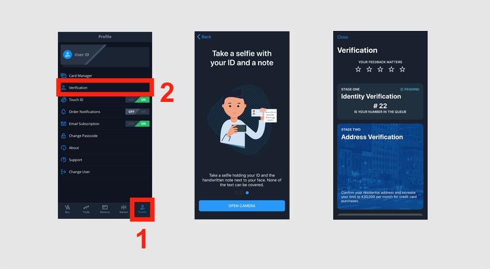 cex.io app verify account