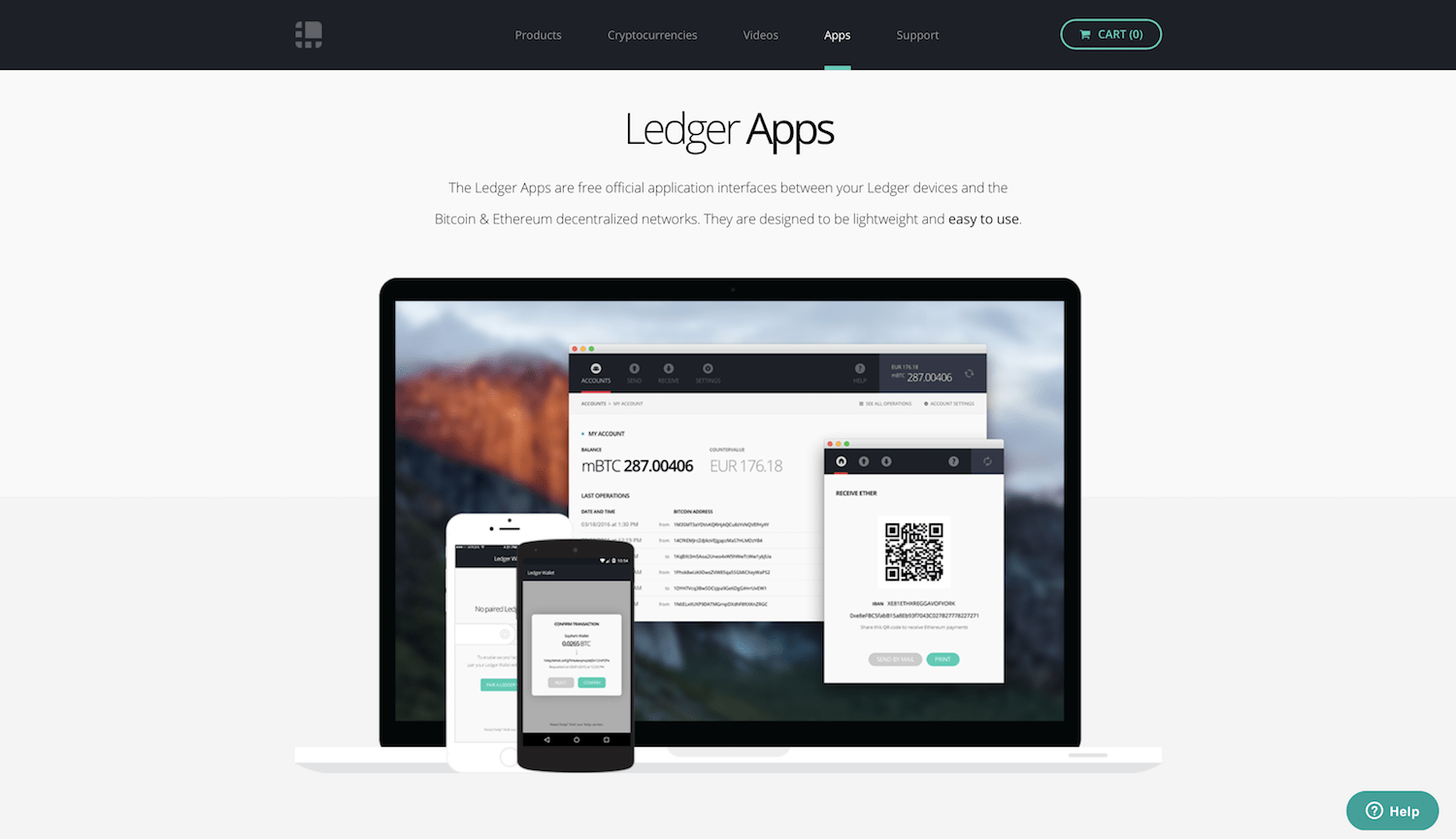 Ledger apps screenshot
