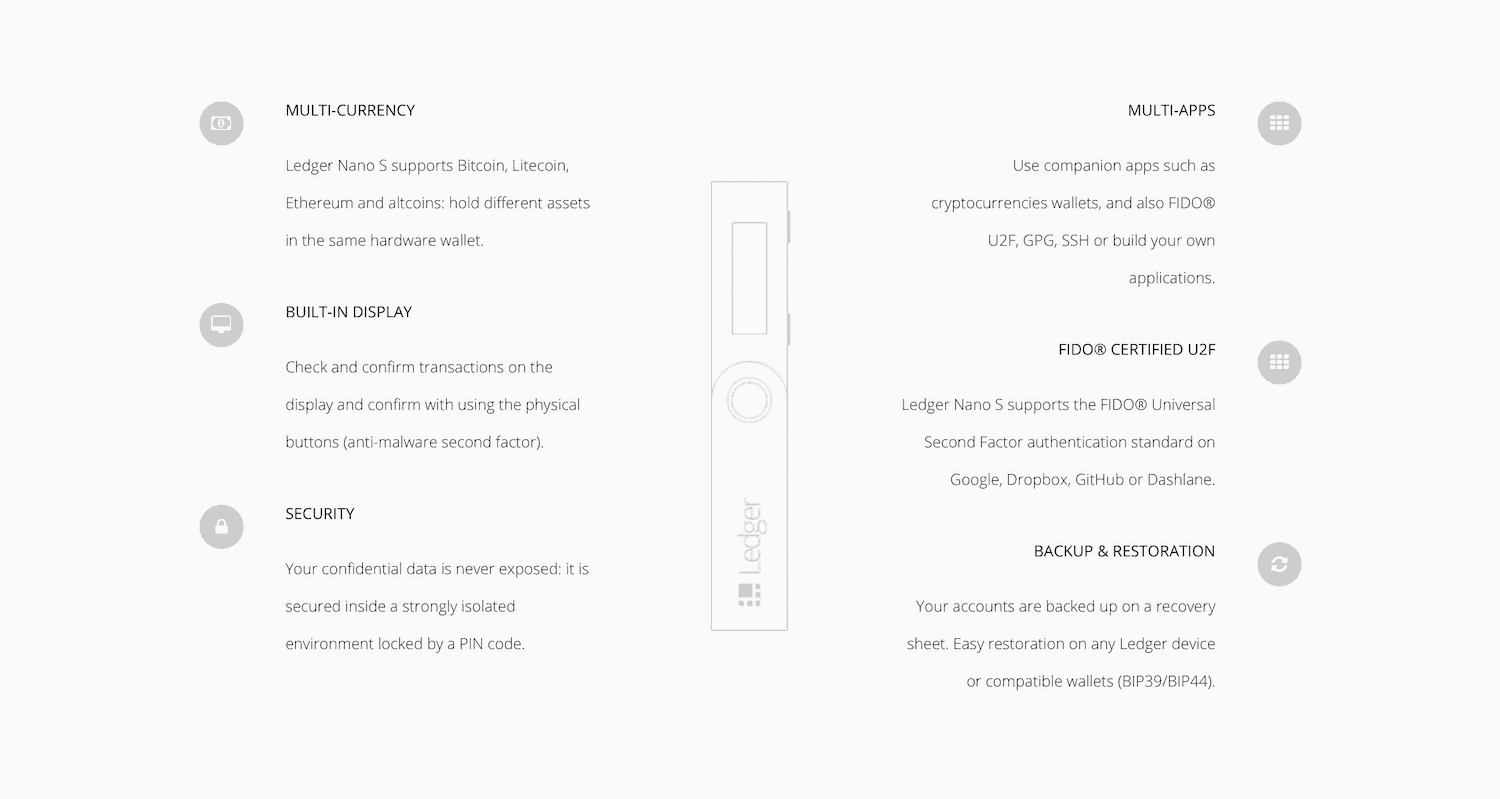 Ledger wallet features