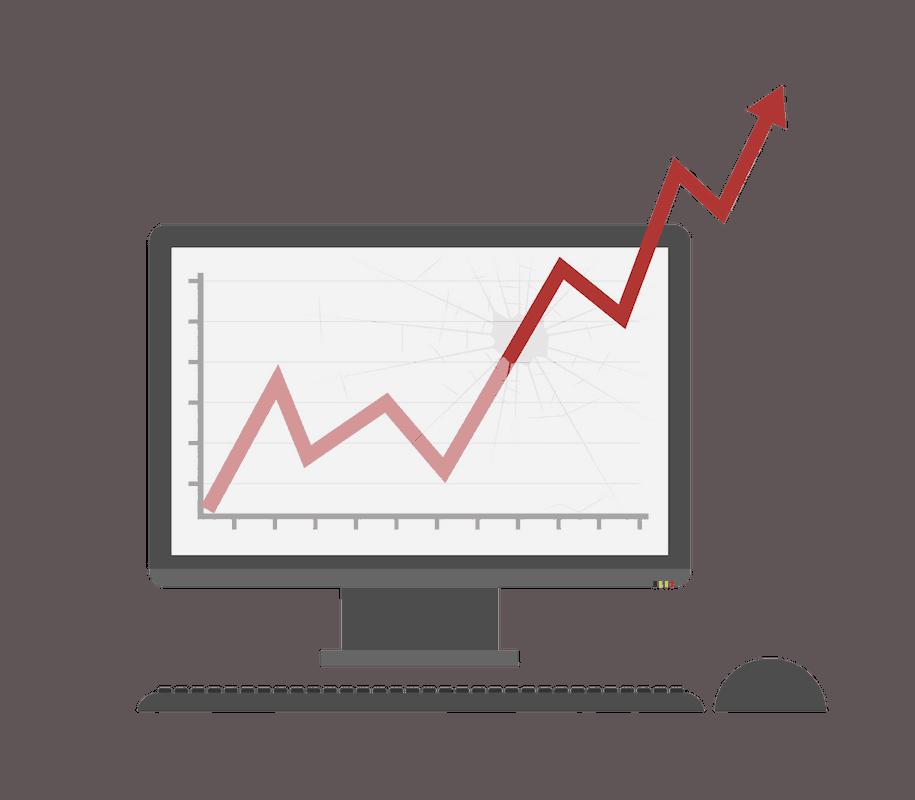 Bitcoin trading computer graph